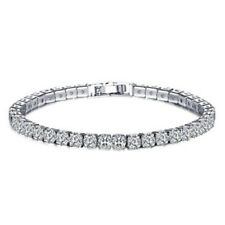 18k Gold Womens 1/2/3 Row Iced Out Tennis Bling Lab Simulated Diamond Bracelet