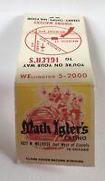 Old Matchbook Cover Math Igler's Casino Chicago