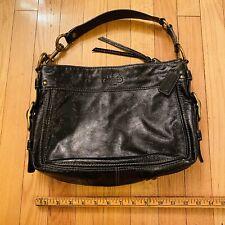Coach F12735 Zoe Black Patent Leather Purse Shoulder Bag