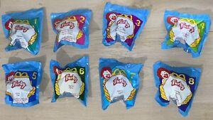 Lot of 1998 McDonald's Furby Set 1-8 Vintage NIP! Tiger Figurines SEALED