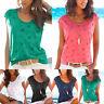 Women Short Sleeve T-Shirt Summer Plain Loose Casual Beach Blouse Tops Tee Shirt