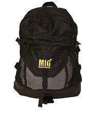 Black Mens Backpack Rucksack Bag TRAVEL SPORTS GYM WORK HIKING SCHOOL BLACK 006L