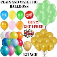 """12""""inch x 30 Large Plain Balloons Helium Quality Party Wedding Birthday BALOONS"""