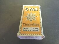 Cigarette  pack Wills STAR with insert but no cigarettes vintage 10 pack