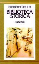 BIBLIOTECA STORICA IX-XIII Diodoro Siculo RUSCONI EDITORE