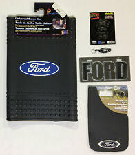 Ford 6 Pc Gift Set Floor Mats Mud Guard License Plate Decal Key Chain
