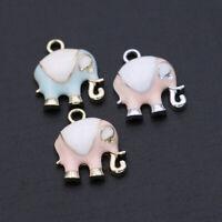Mix 100pcs European Elephant Silver CZ Charm Pendant Fit Necklace Bracelet DIY