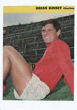 Brian Kinsey Charlton Athletic 1956-1971 revista original firmada a mano de corte