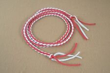 """Goat String - 1/4"""" x 48"""" - Red & White - Paracord (F321)"""