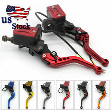 USA Universal Motorcycle Master Cylinder Hydraulic Brake Clutch Levers HONDA 7/8