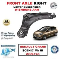 1x FRONT AXLE RIGHT Lower Wishbone ARM for RENAULT GRAND SCENIC Mk III 2009->on