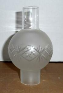 Cieling chandelier Hurricane Glass Painted Shade.ForTable Lamps,Candle Holders