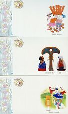 CHINA PRC 1993 LUNAR NEW YEAR OF THE ROOSTER LOTTERY SET OF 12 POSTCARD AS SHOWN
