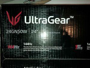 "LG UltraGear 24GN50W-B 24"" TN LCD Gaming Monitor unused"