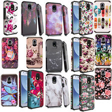 For Samsung Galaxy Amp Prime 3 HARD Hybrid Rubber Silicone Cover Phone Case