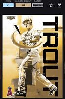 *Digital Card* Topps Bunt 2016 Mike Trout Fire 16 Gold (152) Super Rare