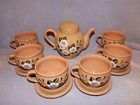 Set of 16 Pieces - Beautiful Vintage Porcelain Tea Set - Marked AC - Pot & Cups