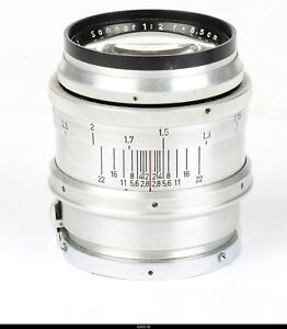 Lens Zeiss Sonnar 2/8,5cm  Red T No.2783592   for Zeiss Ikon  Contax I II  III