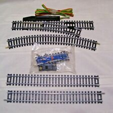 """HO Scale - Tyco - 18""""R Turn Out - Switch Control - 2 Straight & 1 Curved Track"""