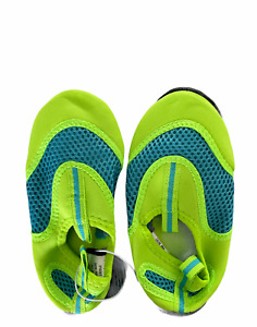 Young Boys Green and Black Water Shoes