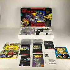Super Nintendo Super NES Super Game Boy Set Very Rare Complete In Box-Tested