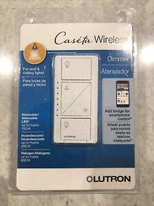 Lutron Caseta Wireless 150-Watt Single Pole Wall Dimmer New (260) PD-6WCL-WH-R