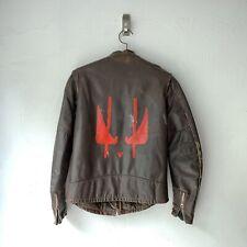 Vintage 50s 60s Leather Cafe Racer Jacket Brown Grendel Talon Custom