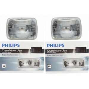 2 pc Philips High Low Beam Headlight Bulbs for Ford Aerostar Bronco Bronco gh