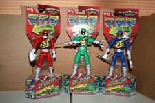 POWER RANGERS DINO CHARGE SPINNING ACTION GREEN, RED AND BLUE RANGERS *NEW*