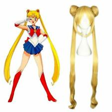 Sailor Moon Tsukino Usagi Uniform Dress Costume & Ponytails Hair Wig for Cosplay