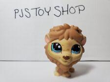 Littlest Pet Shop LPS tan lion #1112 Authentic w/ Free Gift
