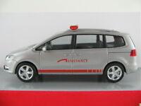 "Herpa 048903 VW Sharan II (2010) ""Assistance"" in silbermetallic 1:87/H0 NEU/OVP"