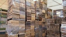 20 piezas sólido cajas de fruta Mercancía B VINO MANZANA Madera Vintage