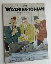 Rare The Washingtonian Magazine Art Deco Cover by Schus c  September 1930