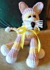 the crocheted handmade item gift cat stuffed animal toy