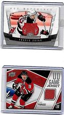 TRAVIS ZAJAC LOT OF ( 4 ) DIFFERENT AUTHENTIC  GAME USED JERSEY CARDS