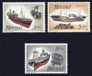Faroe Islands: 1987 Fishing Trawlers (158-160) MNH