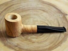 Poker Straight Briar Pipe German Hand Crafted - Natural Brown
