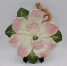 Fitz And Floyd Essentials Handcrafted China Flower Plate, Wall Mountable