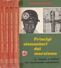 (AA.VV) Principi elementari del Marxismo 1962 Editori Riuniti 5 volumi dal 1 a 5