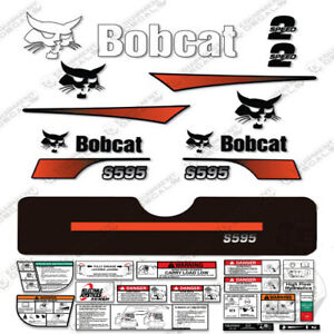 Bobcat S595 Compact Track Loader Decal Kit Skid Steer (Curved Stripes) S-595