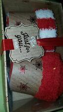 Ladies socks 2 pairs red mix