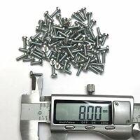 50, 100, 250 M5-0.8 x 6mm Pan Head Phillips Machine Screw Bolt Yellow Zinc NH