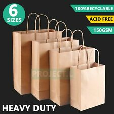 Bulk Kraft Paper Bags Craft Gift Shopping Bag Carry Brown Bag With Handles Au