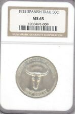 1935 Spanish Trail 50C Silver Commemorative NGC MS-65