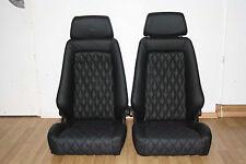2 orthopäd Recaro Specialist S schwarz Leder  für  Defender Wohnmobil T3 T4