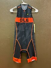 Alé Cycling Record Triathlon Suit - Front Zip - Orange/Black - Men's Medium