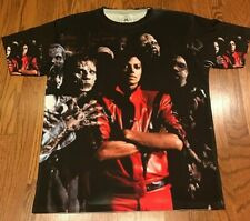 Michael Jackson Thriller Sublimated Shirt 80's King of Pop Legend Zombies-Large