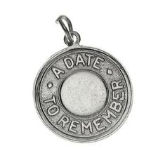 Sterling Silver A Date to Remember Charm for Bracelet 925 3.0g C-434