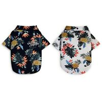Pet Dog Cat Summer Printed Shirt Tops Costume Pineapple Pattern Blouse Clothes